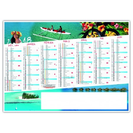 CALENDRIER EXOTIC